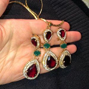 Gemstone Necklace & Earring Set
